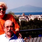 Alan was very much at home in Sorrento with the Vesuvio background
